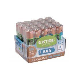 EXTOL-LIGHT EX42013 Baterie alkalické EXTOL ENERGY ULTRA +, 20ks, 1,5V AA (LR6) Baterie