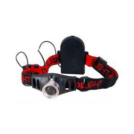 EXTOL-LIGHT EX43101 Čelovka 3W CREE XPE s regulací, svítivost 120lm, dosvit 100m, funkce ZOOM, 2módy světla Čelovky