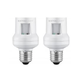 EXTOL-LIGHT EX43810 Objímka na žárovku s dálkovým ovládáním, 2ks, max. 60W žárovka, E27 Zbylé drobné zboží
