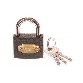 GEKO G01311 Zámek visací, 38mm, 3 klíče Schránky a zámky