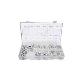 GEKO G02920 Sada chromovaných maznic, různé velikosti, 110 kusů Zbylé drobné zboží