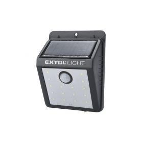 EXTOL-LIGHT EX43130 Světlo nástěnné s pohybovým čidlem, 120lm, solární nabíjení Ruční svítilny