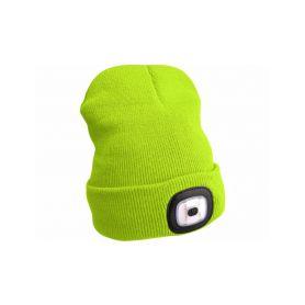 EXTOL-LIGHT EX43194 Čepice s čelovkou, nabíjecí, USB, fluorescentní žlutá, univerzální velikost Čelovky