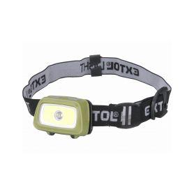 EXTOL-LIGHT EX43108 Čelovka 250lm+250lm, 250lm Seoul LED, 250lm COB LED, červené/zelené světlo pro noční viděn Čelovky