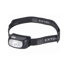 EXTOL-LIGHT EX43181 Čelovka 130lm CREE XPG, nabíjecí, USB, dosvit 40m, 5W CREE XPG LED Čelovky