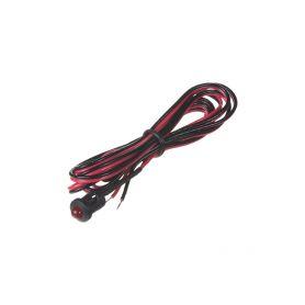 Červená blikací kontrolní LED s objímkou a kabelem 1-se006red