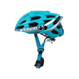 SAFE-TEC 2003-078 TYR 2 Turquoise XL (61cm - 63cm) Chytré bluetooth helmy na kolo