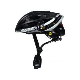 SAFE-TEC 2003-074 TYR 3 Black-Silver M (55cm - 58cm) Chytré bluetooth helmy na kolo
