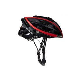 SAFE-TEC 2003-082 TYR Black Red XL (61cm - 63cm) Chytré bluetooth helmy na kolo