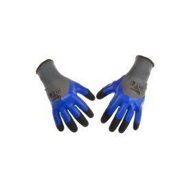 GEKO G73575 Ochranné pracovní rukavice, zesílené prsty, velikost 8 Pracovní rukavice