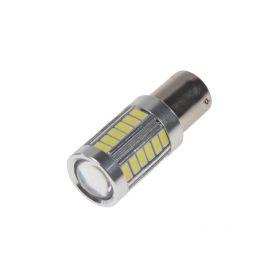 95137 LED BAU15s bílá, 12-24V, 33LED/5730SMD s čočkou Patice BAU15S