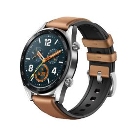 Huawei Watch GT Brown Leather Silicone Chytré hodinky