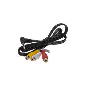 80344 RCA audio/video kabel, 0,8m s prodlouženým Jack 3,5mm konektorem AV kabely