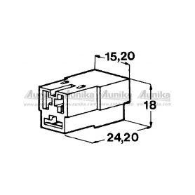 IMP 428990 5000 Kryt 3ks dutinky 6,3 mm Izolační kryty Faston