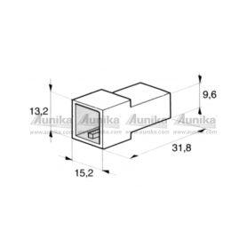 IMP 428977 5000 Kryt 2ks koliku 6,3 mm Izolační kryty Faston
