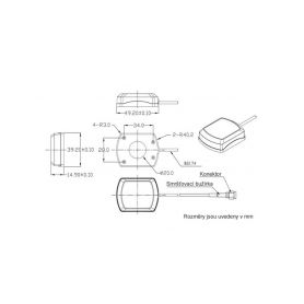 Kotoučové pily EXTOL CRAFT 4-ex405223c Uhlíky náhradní 2ks, pro 405223 (kotoučová pila 1200W), EXTOL CRAFT