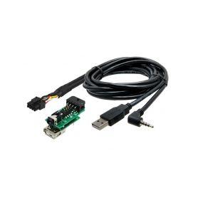 248859 USB+JACK konektor Nissan Pulsar (15-) USB/AUX kabely