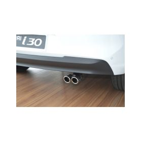 ALDOR - CarPartsExpert 641000 H1I3TP Dvojita koncovka vyfuku Hyundai i30 Doplňky pro Hyundai