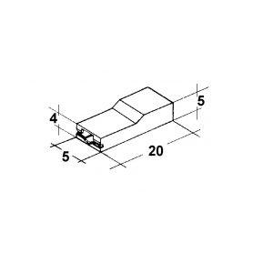IMP 428978 Kryt dutinky 2,8mm bily Izolační kryty Faston