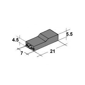 IMP 428979 N Kryt dutinky 4,8mm cerny Izolační kryty Faston