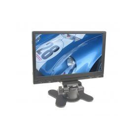 """IC-705TBLACK LCD monitor 7"""" do opěrky s IR vysílačem černý Na palubní desku"""