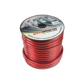31121 Kabel 20 mm, červeně transparentní, 25 m bal Montážní kabely