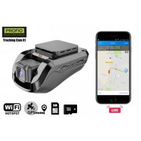 PROFIO kamera do auta X1 s LIVE GPS + LIVE obraz kamera Dvoukanálové záznamové kamery
