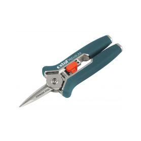 EXTOL-PREMIUM EX8872115 Nůžky zahradnické přímé, mini, 153mm, na stříhání rostlin do pr. 6mm, NEREZ Zahradní nůžky