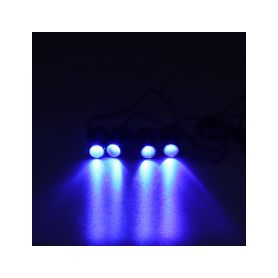 KF704BLU LED stroboskop modrý 4ks 1W Stroboskopy