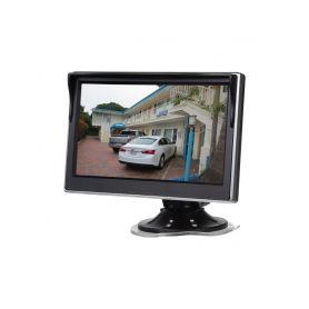 """80062 LCD monitor 5"""" černá/stříbrná s přísavkou s možností instalace na HR držák Na palubní desku"""