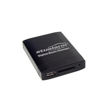YATOUR - ovládání USB zařízení OEM rádiem Fiat Blaupunkt/AUX vstup 1-55xcfa001