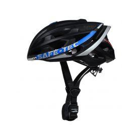 SAFE-TEC 2101-075 TYR 2 Black-Blue L (58cm - 61cm) Chytré bluetooth helmy na kolo
