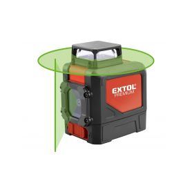 EXTOL-PREMIUM EX8823307 Laser zelený liniový, křížový samonivelační Laserová měřidla