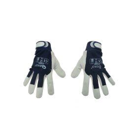 GEKO G73529 Pracovní kožené rukavice Kozí kůže, vel.10 Pracovní rukavice