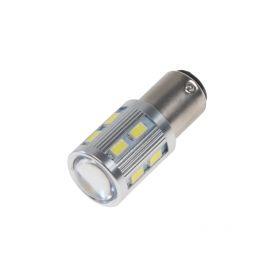 95C-BAY15D-3 LED BAY15D bílá, 12SMD 5630 + 3W Osram 10-30V Patice BAY15D