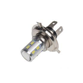 95H406 LED H4 bílá, 10-30V, 12SMD 5630 + 3W Patice H4