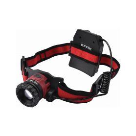 EXTOL-LIGHT EX43190 Čelovka 450lm CREE XPL, nabíjecí, USB, 10W CREE XPL, funkce ZOOM Čelovky