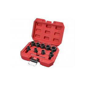 """EXTOL-PREMIUM EX8818141 Hlavice na uvolňování šroubů a matic, sada 10ks, 3/8"""", 10-19mm, CrMo Závitníky"""