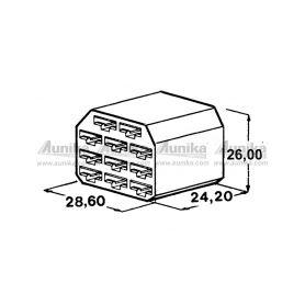 IMP 428970 Kryt 11 ks dutinky 6,3 mm Izolační kryty Faston