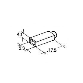 IMP 428980 Kryt dutinky 2,8mm bily Izolační kryty Faston