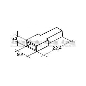 IMP 428982 5000 Kryt dutinky 6,3mm bily Izolační kryty Faston