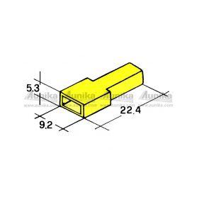 IMP 428982 Y Kryt dutinky 6,3mm zluty Izolační kryty Faston