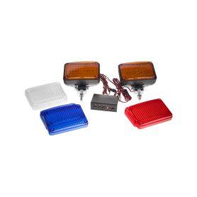 KF715 x PREDATOR LED vnější, 12V, s kryty modrá, bílá, oranžová Vnější ostatní