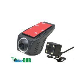 inCarDVR 229504 DVR kamera HD, Wi-Fi univerzalni predni + zadni Dvoukanálové záznamové kamery
