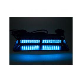 911-X9VISORBLU PROFI výstražné LED světlo vnitřní, 12-24V, modré, ECE R65 Vnitřní
