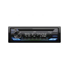 KD-DB912BT JVC DAB / FM autorádio s CD/Bluetooth/USB/AUX/odním.panel/multicolor DAB radiové tunery