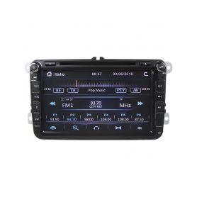 """80891 Autorádio pro VW, Škoda s 8"""" LCD, GPS, multicolor, ČESKÉ MENU Pevné GPS navigace"""