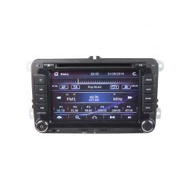 """80890 Autorádio pro VW, Škoda s 7"""" LCD, GPS, multicolor, ČESKÉ MENU Pevné GPS navigace"""