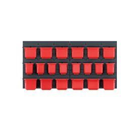 KISTENBERG KOR6-S411/3020 Závěsný panel s 20 boxy na nářadí ORDERLINE 800x165x400 Kufry a pořadače nářadí