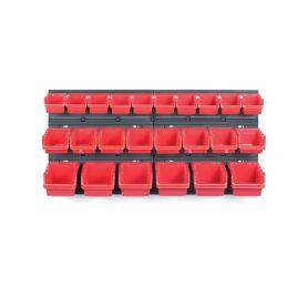 KISTENBERG KOR2-S411/3020 Závěsný panel s 24 boxy na nářadí ORDERLINE 800x165x400 Kufry a pořadače nářadí